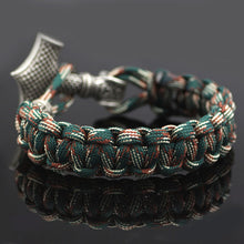 "Laden Sie das Bild in den Galerie-Viewer, Paracord-Armband camouflage ""Thorshammer"" Unisex"