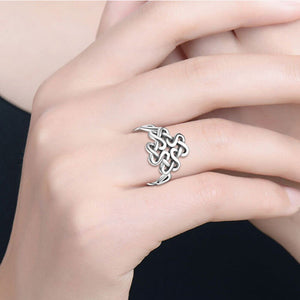 "Ring ""Keltenknoten"" 925 Sterling Silber Damen"