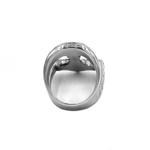 "Ring ""Thorshammer Runen"" silbern Unisex"