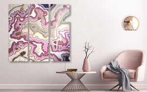 "COLORBERRY original artwork ""crystalized rose quartz"""