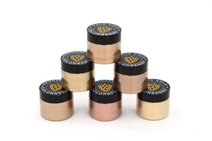 BRONZE BOX -  6 x 25gr metallic floating powder