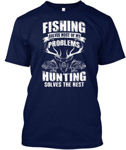 FISHING AND HUNTING T-SHIRT
