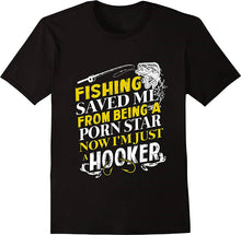 Load image into Gallery viewer, FISHING SAVED ME T-SHIRT