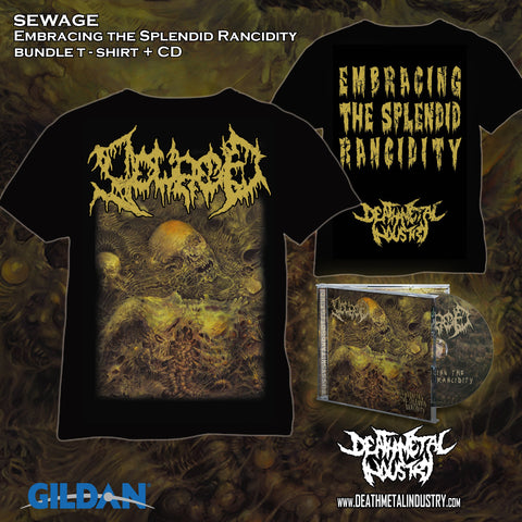 SEWAGE  - Embracing the Splendid Rancidity  (Bundle TS + CD)