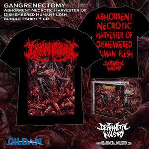 GANGRENECTOMY - Abhorrent Necrotic Harvester Of Dismembered Human Flesh (Bundle TS + CD)