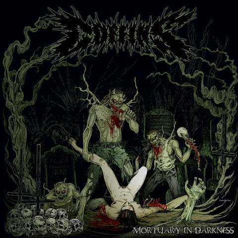 COFFINS - Mortuary In Darkness (2LP, Green)