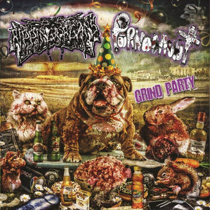 RIPPING ORGANS / PORNOCAUST - Grind Party CD [Split]