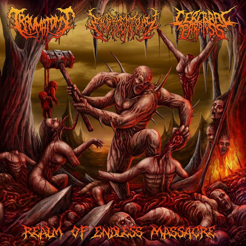 TRAUMATOMY / EMBRYECTOMY / CEREBRAL PARALYSIS - Realm Of Endless Massacre CD
