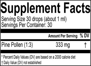 Pine Pollen Extract Supplement Facts- Wild Kingom