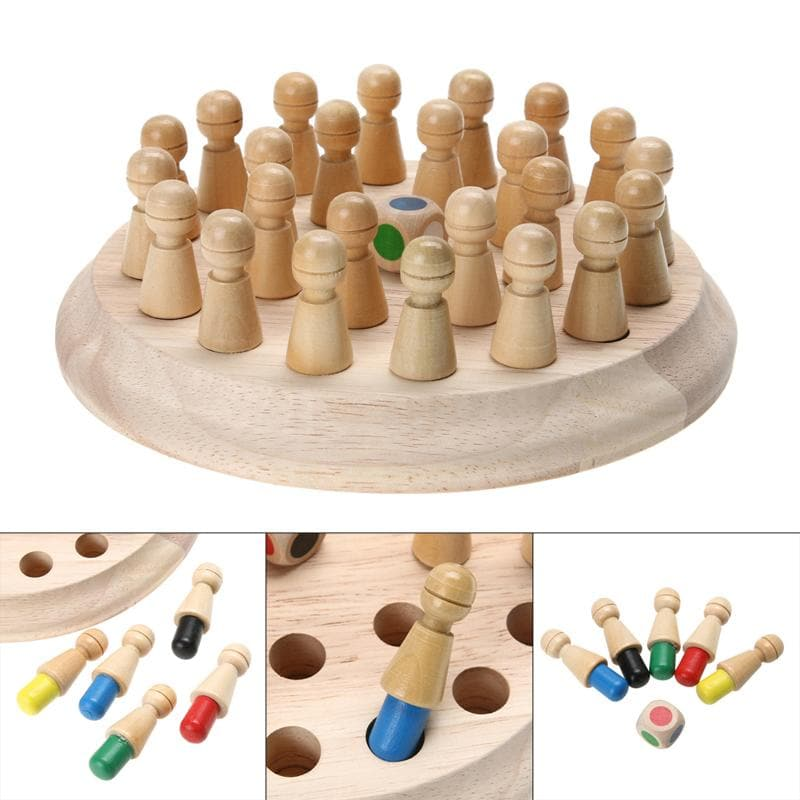 Wooden Color & Memory Mastery Chess