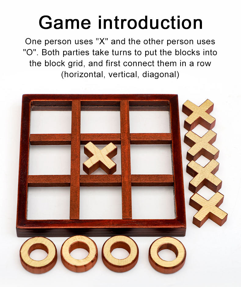 Wooden Tic Tac Toe For Kids
