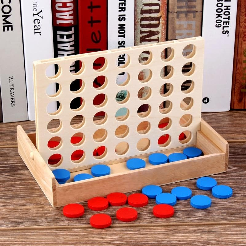 Wooden Four-in-a-Row Game
