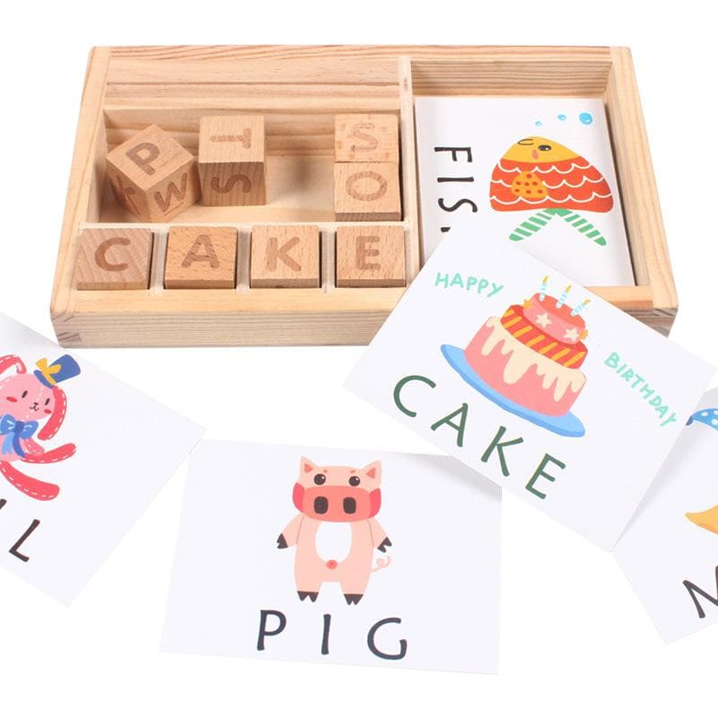 Educational ABC Blocks Toy: Wooden Alphabet Learning