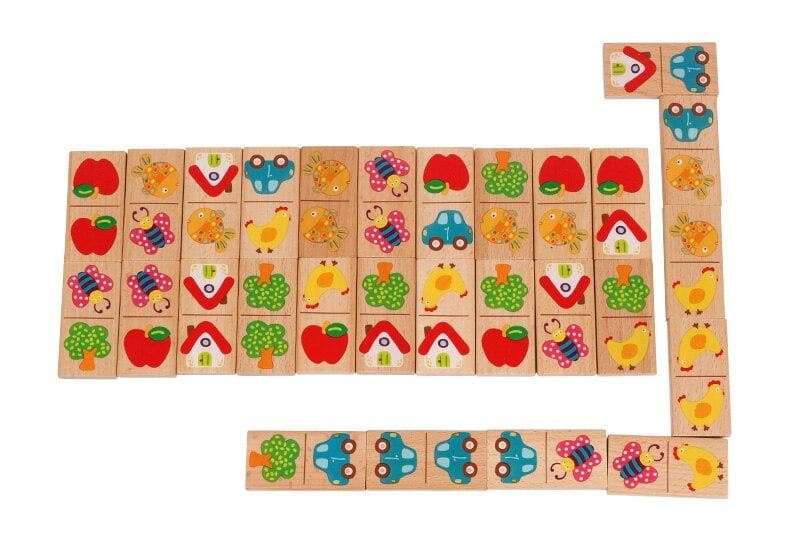 Wooden Solitaire Domino Learning Game