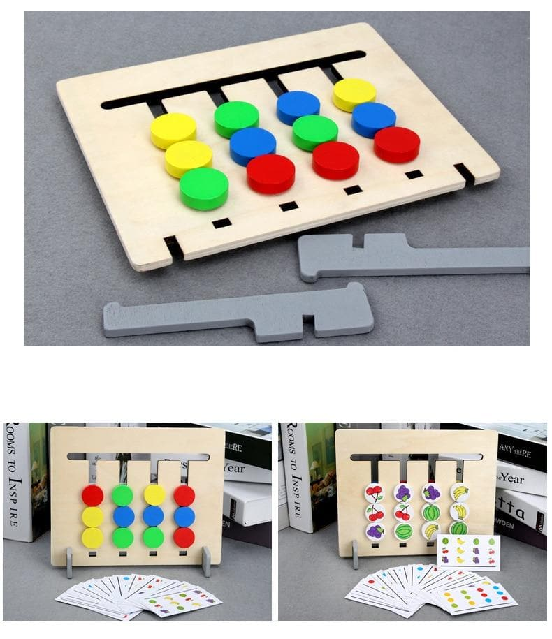 Double-Sided Wooden Brain Trainer