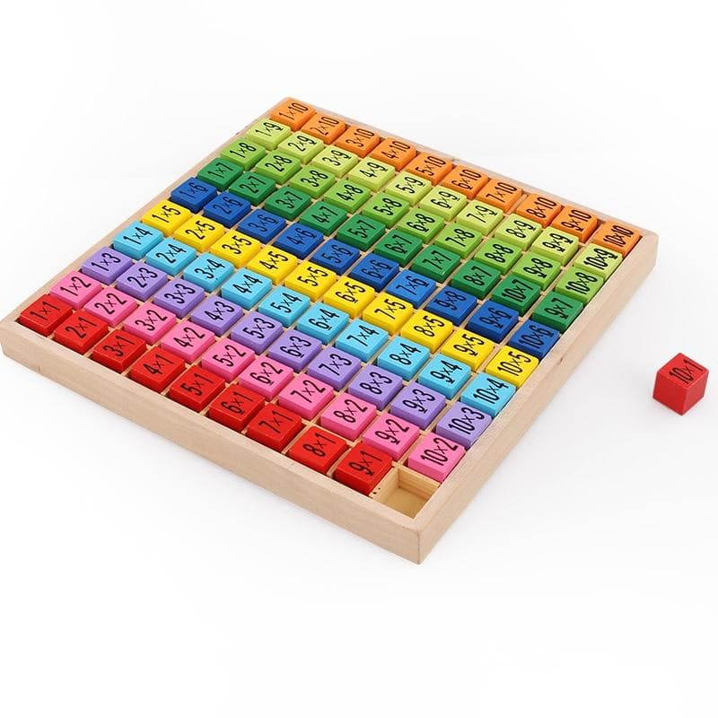 Wooden Montessori Math Chart