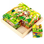 Load image into Gallery viewer, 6-in-1 Wooden Animals 3D Puzzle