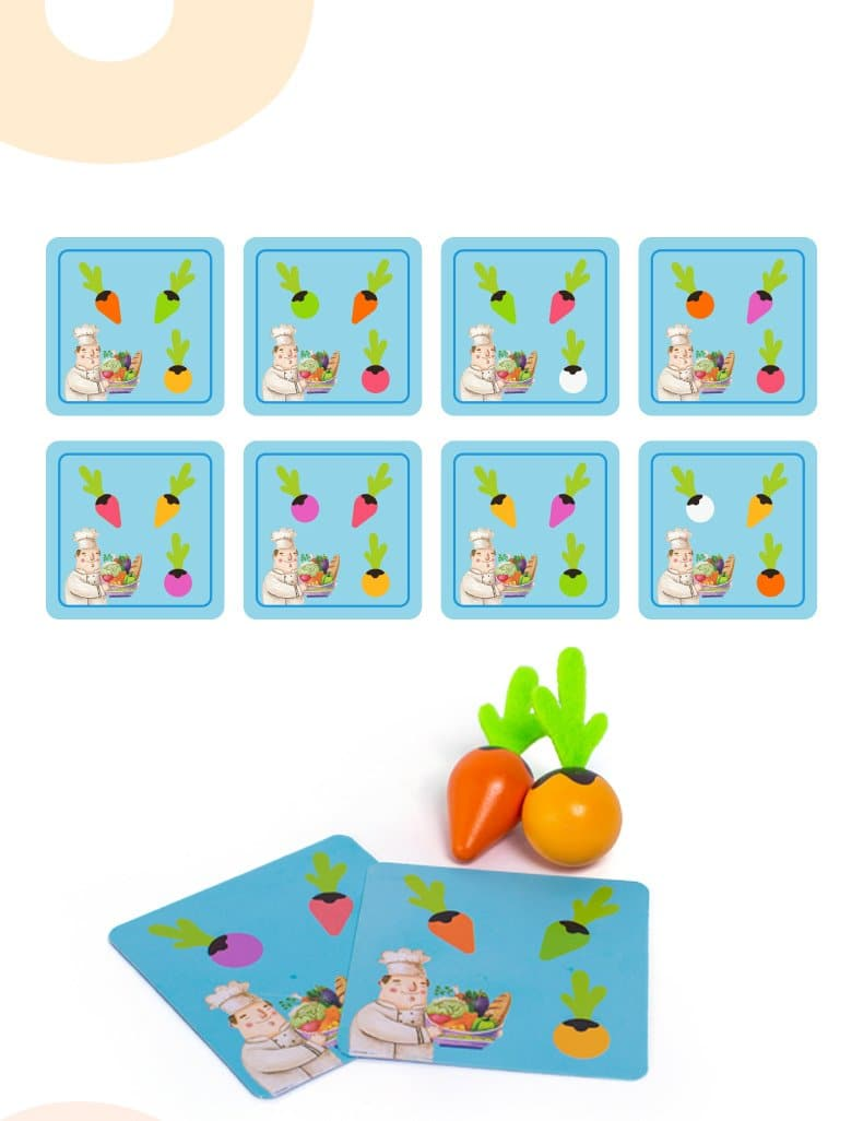 Radish Vegetables Learning Game