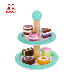 Wooden Two Tiered Cake Stand Toy