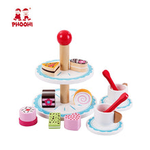 Load image into Gallery viewer, Wooden Afternoon Tea Set Toy