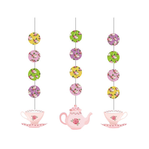 Hanging Paper Tea Set Party Decorations