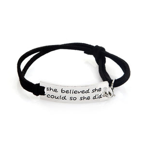 She Believed She Could So She Did Bracelet