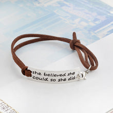 Load image into Gallery viewer, She Believed She Could So She Did Bracelet
