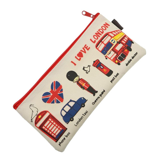 London Themed Makeup Bag
