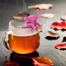 Load image into Gallery viewer, Pink Elephant Shaped Silicone Tea Infuser