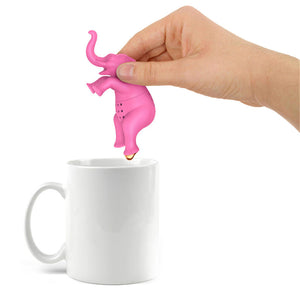 Pink Elephant Shaped Silicone Tea Infuser