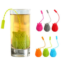 Load image into Gallery viewer, Silicone Owl Shaped Tea Infuser