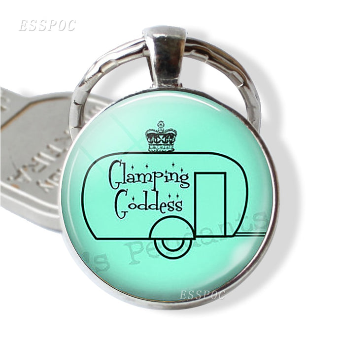 Glamping Goddess Key Chain With Trailer