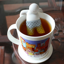 Load image into Gallery viewer, Mr. Tea Shaped Silicone Tea Infuser