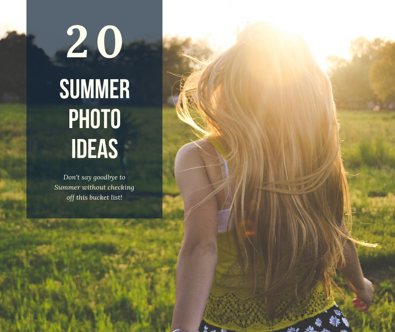 Summer Photo Bucket List 📸 ☀️
