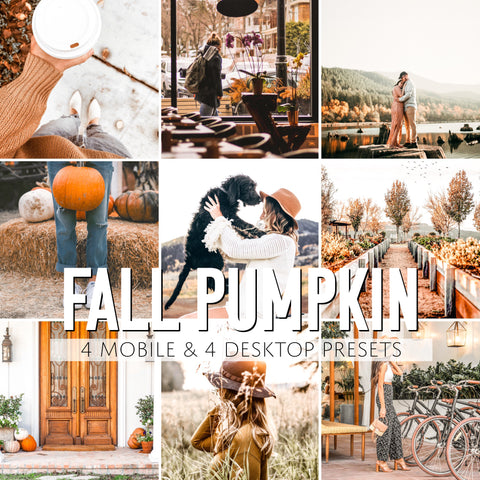 Fall Pumpkin Mobile & Desktop Presets