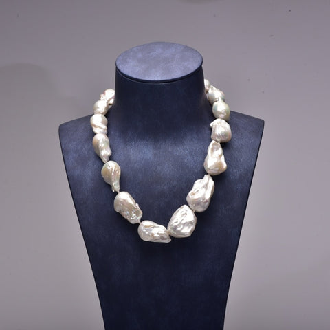 [YS] Baroque Pearl Jewelry Big Size Natural Cultured Baroque Irregular Pearl Freshwater Pearls Choker Necklace Free Shipping
