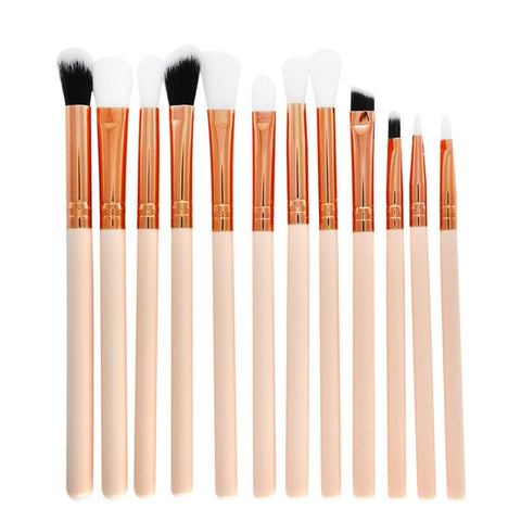 12 Pcs Makeup Brush Set Professional Face Eye Shadow Eyeliner Foundation Blush Pincel Maquiagem Pinceaux Maquillage