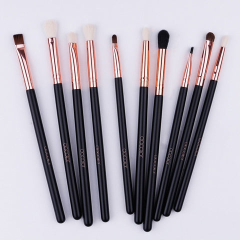 Docolor 10PCS Makeup Brushes Eyeshadow Brush Set Eyebrow Eyeliner Lip Brushes  Beauty Essentials Cosmetic Brush Tools