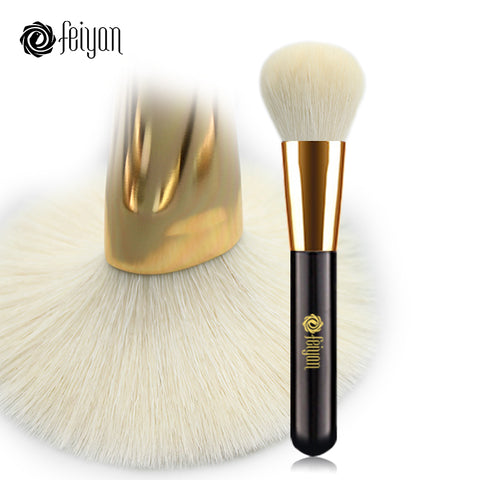 FEIYAN Makeup Powder Brush Large Soft Natural Goat Hair Professional Foundation Blush Blend Contour Bronzer Make Up Brushes 1pcs