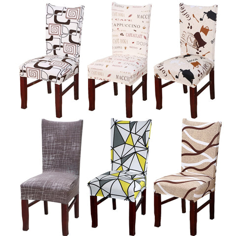 1Pc Spandex Elastic Floral Slipcovers Chair Covers Stretch Removable Dining Chair Cover With Backrest Modern Kitchen Seat Case