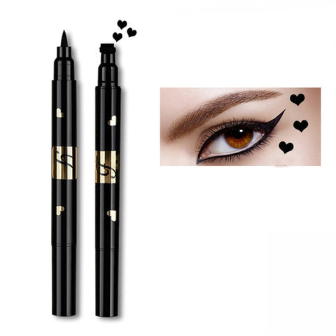 Professional make-up black liquid quick-drying double-head eyeliner durable waterproof fashion stunning charm embellishment seal