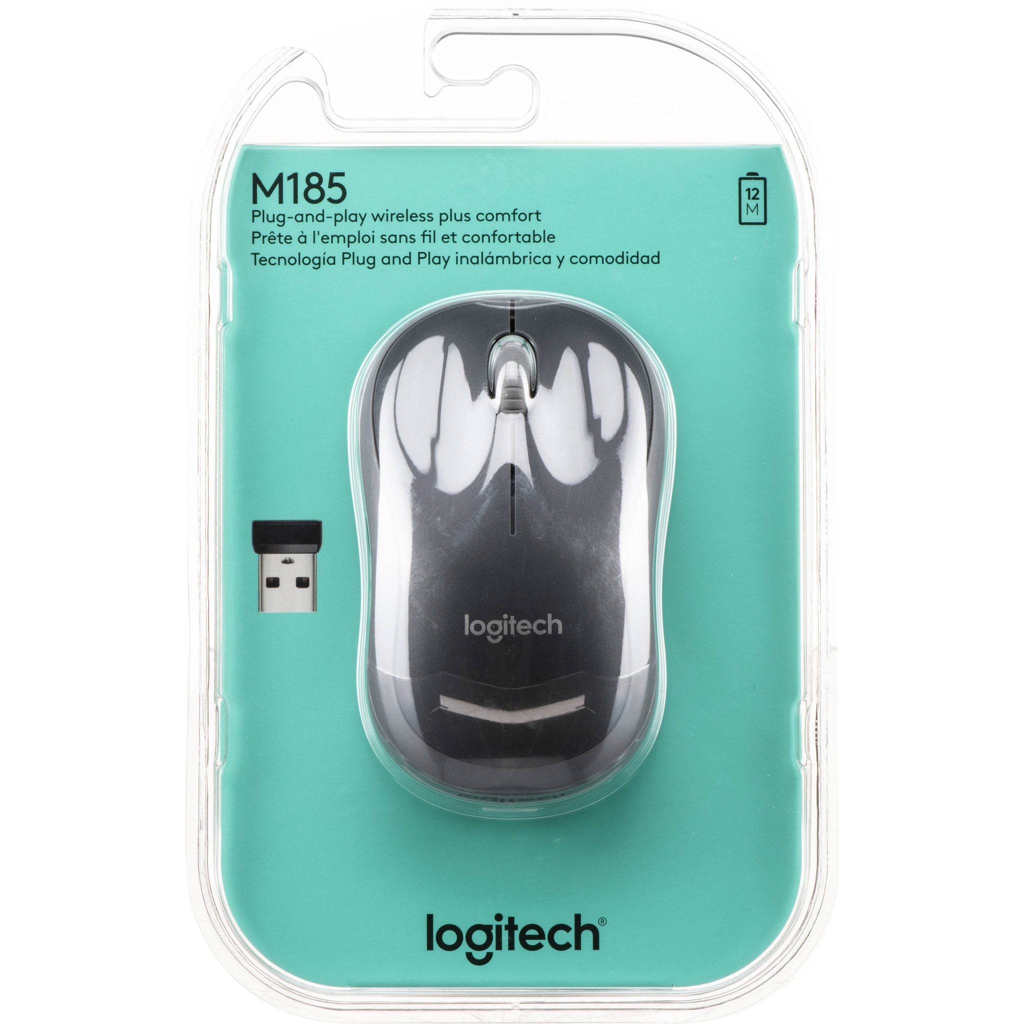Logitech Mouse - Black (M185)