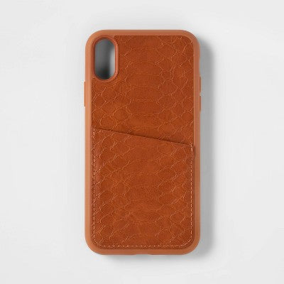 heyday™ Apple iPhone XR Case with Pockets - Tan Crocodile