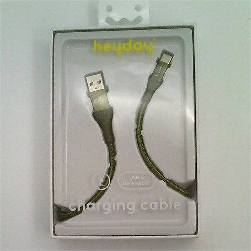 heyday™ USB-C to USB-A Braided Cable 4ft - Green