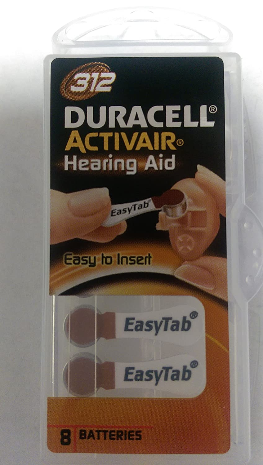 Duracell Easy tab Hearing Aid Size 312 - 16ct