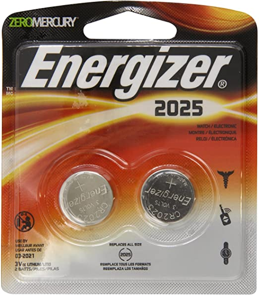 Energizer 2025 Coin Lithium Batteries 2 ct (2025BP-2)