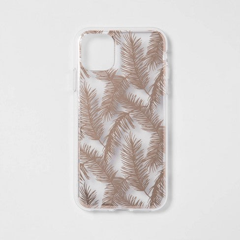 heyday™ Apple iPhone 11 Case - Rose Gold Feathers