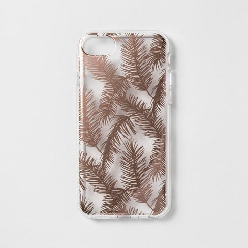 heyday™ Apple iPhone 8/7/6s/6 Case - Rose Gold Feathers