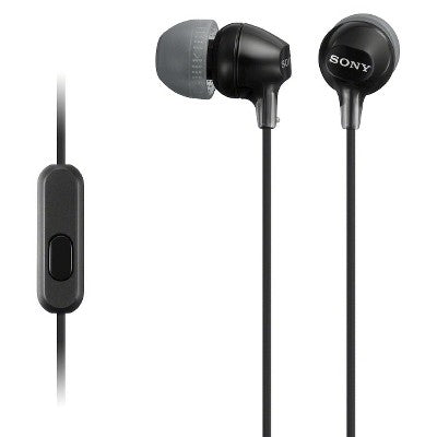 Sony Fashionable Wired Headset for Smartphones - Black