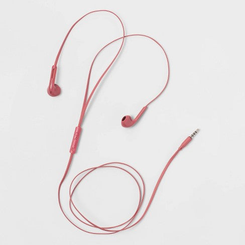 heyday™ Wired Earbuds - Dusty Pink